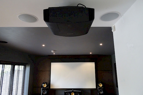 Home cinema projector installed